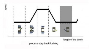 Step 5: Backflushing in sequence of the processing