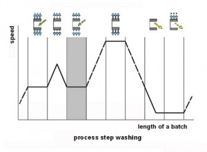 Step 3: Washing in sequence of the processing steps