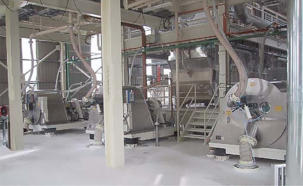 KFT horizontal peeler centrifuge production line ProCent in operation by a customer in Far East